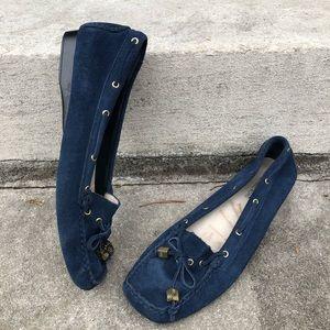 Michael Kors Blue Suede Moccasins Size 8